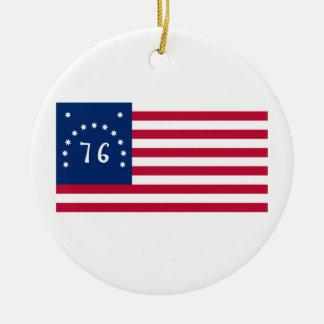 76の米国ベニントンの旗の精神 セラミックオーナメント