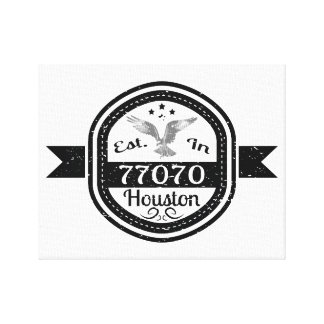 77070ヒューストンに確立される キャンバスプリント