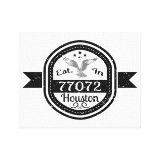 77072ヒューストンに確立される キャンバスプリント