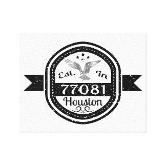 77081ヒューストンに確立される キャンバスプリント