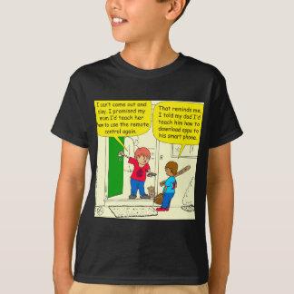 774は私のお母さんに遠隔漫画を教えます Tシャツ