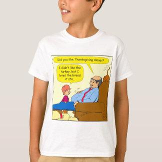 775感謝祭の夕食の漫画のように Tシャツ