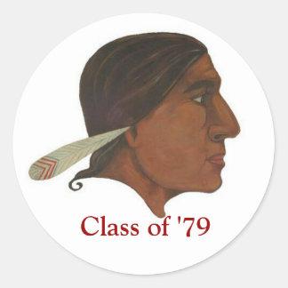 「79のステッカーのアパッシュのクラス ラウンドシール