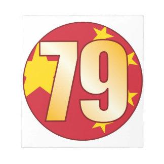 79中国の金ゴールド ノートパッド
