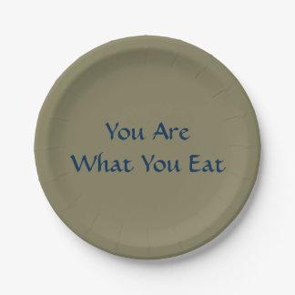 """7""""紙皿を食べるものです ペーパープレート"""