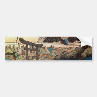 7. 藤沢宿、広重藤沢juku、Hiroshige、Ukiyo-e バンパーステッカー
