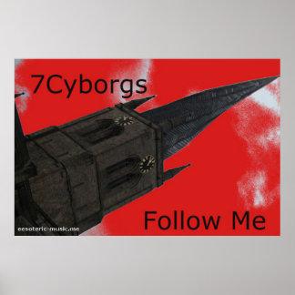 """7Cyborgs 36"""" x24""""ポスター ポスター"""
