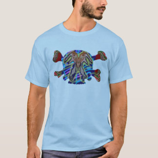 8つのカラフルなスカル- ART101ハロウィンのコレクション Tシャツ