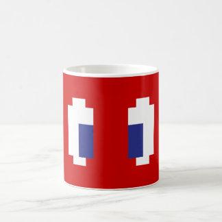 8つのビットピクセルマンガの目 コーヒーマグカップ