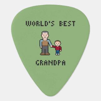 8つのビットピクセル世界で最も最高のな祖父 ギターピック