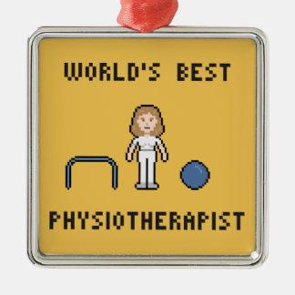 8つのビット世界で最も最高のな物理療法家のオーナメント メタルオーナメント