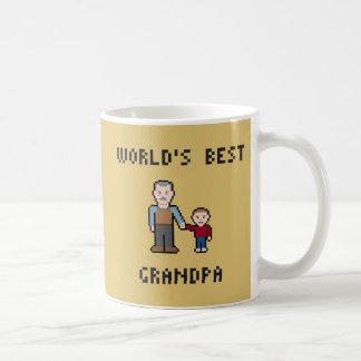 8つのビット世界で最も最高のな祖父のマグ コーヒーマグカップ