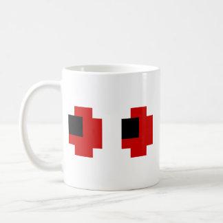 8つのビット気味悪く赤い目 コーヒーマグカップ
