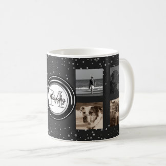 8つの写真のコラージュ|カスタムなInstagram家族の点 コーヒーマグカップ