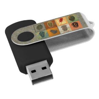 8つの化石のTrilobitesの旋回装置のフラッシュドライブ USBフラッシュドライブ