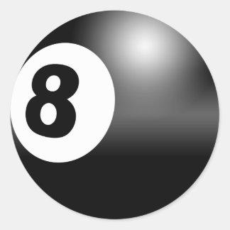 8つの球のステッカー ラウンドシール