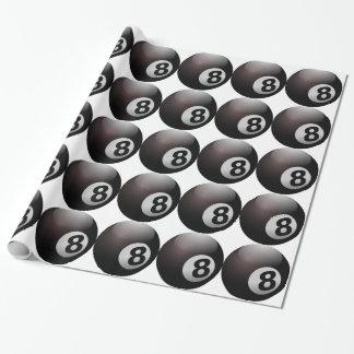 8つの球のビリヤードのプール ラッピングペーパー