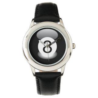 8つの球のビリヤードの腕時計のプール 腕時計
