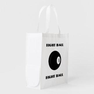 8つの球のビリヤード エコバッグ