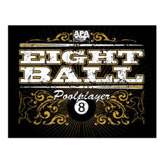 8つの球のヴィンテージのデザイン ポストカード