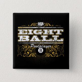 8つの球のヴィンテージのデザイン 缶バッジ
