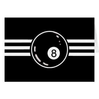 8つの球の白のストライプ カード