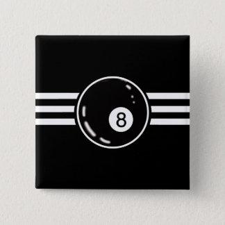 8つの球の白のストライプ 缶バッジ