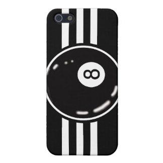 8つの球の白のストライプ iPhone SE/5/5sケース