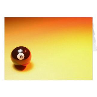 8つの球の黄色い背景 カード