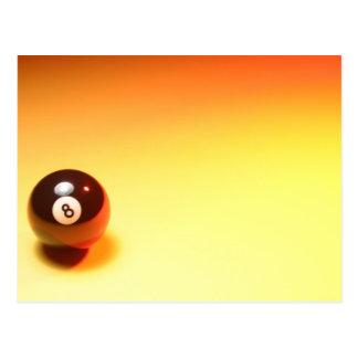 8つの球の黄色い背景 ポストカード