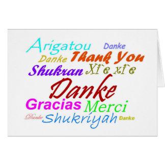 8つの言語のカードDankeドイツ感謝していして下さい カード