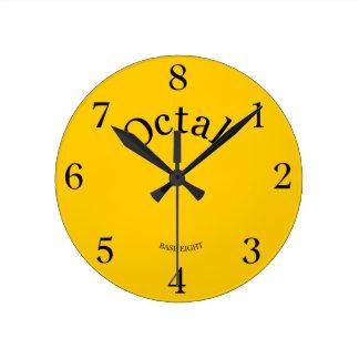 8の時計はあなたの生命基盤8に住んでいます ラウンド壁時計