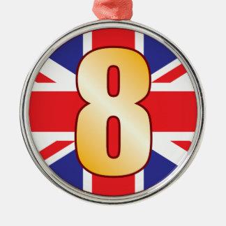 8イギリスの金ゴールド メタルオーナメント