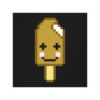 8ビットかわいいのアイスクリーム キャンバスプリント