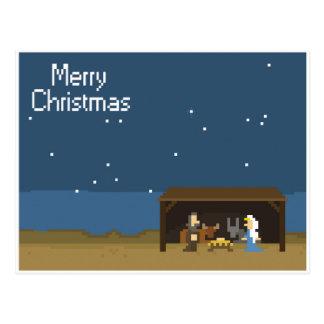 8ビットクリスマスの出生場面 ポストカード