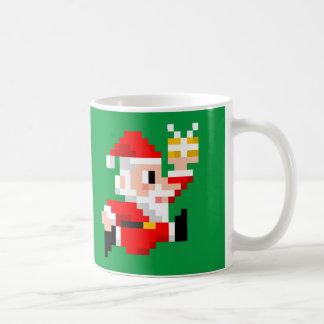 8ビットサンタクロースのクリスマスのコーヒー・マグ コーヒーマグカップ
