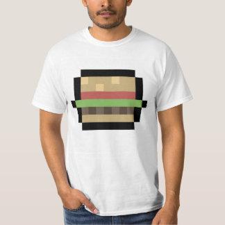 8ビットハンバーガーピクセル芸術のTシャツ Tシャツ