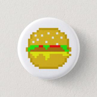 8ビットハンバーガー 3.2CM 丸型バッジ