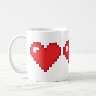 8ビットハート コーヒーマグカップ