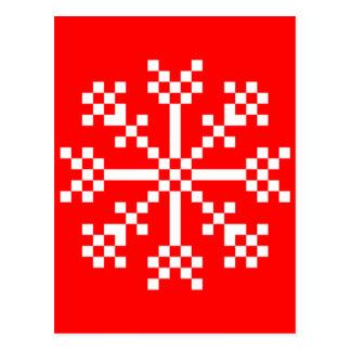 8ビットビデオゲームの雪片 ポストカード