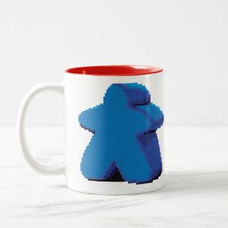8ビットピクセルMeepleのツートーンマグ ツートーンマグカップ