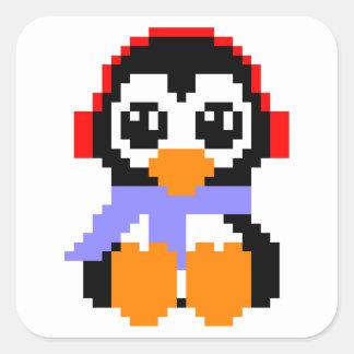 8ビットペンギン スクエアシール