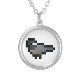 8ビットレトロの《鳥》アメリカゴガラ シルバープレートネックレス