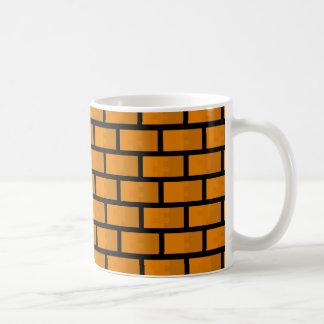 8ビットレンガ壁 コーヒーマグカップ