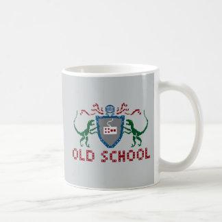8ビット古い学校のヴェロキラプトルのマグ コーヒーマグカップ
