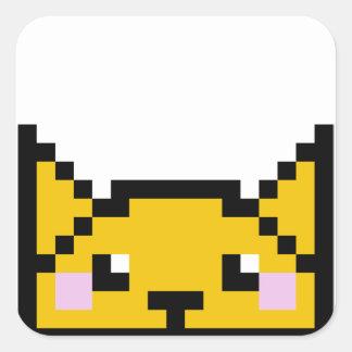 8ビット子猫 スクエアシール