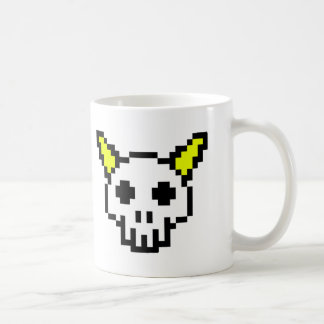 8ビット角状のスカル コーヒーマグカップ