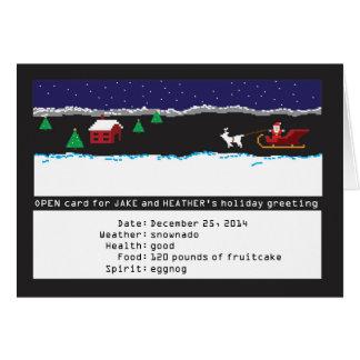 8ビット賭博の休日カード カード