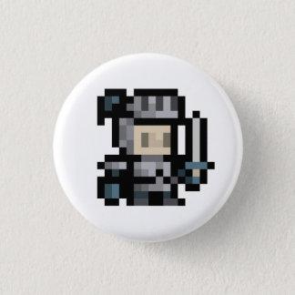 8ビット騎士16x16妖精ピクセル芸術ボタン 3.2cm 丸型バッジ