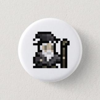 8ビット魔法使い16x16の妖精ピクセル芸術ボタン 3.2cm 丸型バッジ